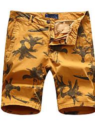 Hommes Mince Short Pantalon,Street Chic Actif Décontracté / Quotidien Plage Sportif Imprimé Taille Normale fermeture ÉclairCoton