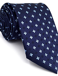 BXL16 Men Neckties Navy Blue Dots 100% Silk Business Fashion Wedding New For Men