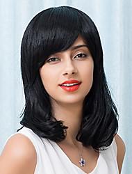 élégant belle mi-longueur capless perruques vague naturelle cheveux humain 2017