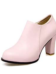 Women's Heels Spring Fall Club Shoes Leatherette Casual Chunky Heel