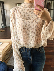 The new South Korean foreign flavor casual chic spring models bling pretty simple flower shirt Spot