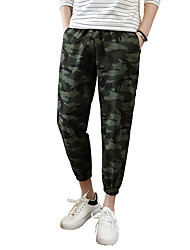 Men's Plus Size Straight Slim Chinos Pants,Casual/Daily Club Sports Vintage Simple Street chic Camouflage Low Rise Elasticity Cotton