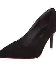 Women's Boots Fall Winter Comfort PU Casual Low Heel Zipper Black Brown Green Other