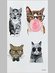 Fashion Tattoo Kitten Waterproof Tattoo Stickers