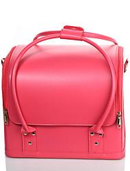 Kosmetik Tasche einfarbig Quadratisch PU Rosa Normal 30*24*26 Damen