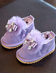 Baby Flats Winter First Walkers Leatherette Outdoor Casual Low Heel Magic Tape Black Light Purple Pink Walking