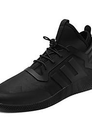 Men's Sneaker Casual Shoes Flat Heel Hook & Loop Black Walking