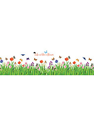 Wall Stickers Wall Decals Style Flowers Plants PVC Wall Stickers