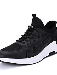 Men's Sneakers Spring Summer Fall Winter Comfort PU Outdoor Office & Career Casual Athletic Gore Black and Red Black and White