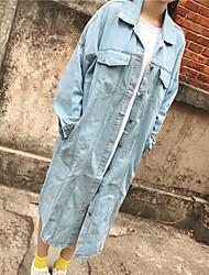 2017 год весной и осенью корейская версия была тонкая дикие большой ярдов гонконг аромат старинных джинсовой траншею пальто девушки