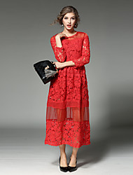Maxlindy Women's Going out / Party/Cocktail / Holiday Vintage / Street chic /Midi Lace Dress
