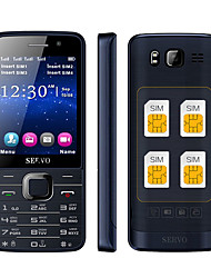 Quad Sim Cell phone Quad Band 2.8 inch 4 SIM Cards,Bluetooth,MP3,MP4.GPRS,Keyboard(Gold/Black)