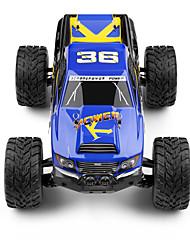 Truggy WLToys 1:12 Bürster Elektromotor RC Auto 35 2.4G Blau Fertig zum MitnehmenFerngesteuertes Auto Fernsteuerung/Sender Akku-Ladegerät