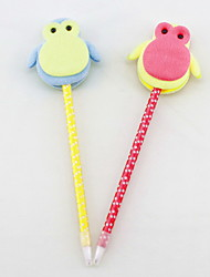 Fashion Non-woven/Plastic Handmade Lovely Penguin Craft BallPoint Pen(Two-sided)
