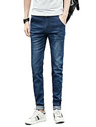 Hommes Grandes Tailles Mince Jeans Chino Pantalon,Vintage simple Street Chic Décontracté / Quotidien Soirée Couleur Pleine Taille Basse