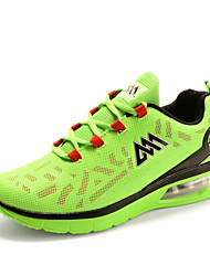Running Shoes Men's Comfort Air Cushion Tulle Outdoor Athletic Flat Heel Lace-up