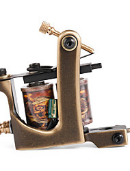 Solong Tattoo Custom Brass Tattoo Machine Gun Handmade 12 Wrap Pure Copper Coils for Shader M203-2