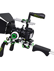YELANGU DSLR Rig Set Movie Kit shoulder mount rig with Follow Focus and Matte Box and Top handle for All DSLR Cameras and Video Camcordersby SunSmart