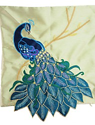 RayLineDo® Imitation Silk Modern Stereo Creative Embroidered Peacock Soul  Pillow Case  CTJZ21-PC-QUELING