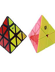 Brinquedos Cubo Macio de Velocidade Pyraminx Velocidade Nível Profissional Cubos Mágicos Etiqueta lisa Anti-Abertura Mola Ajustável ABS