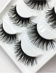 5 Pairs Women Lady New Natural Soft Eye Lashes Makeup Handmade Thick Fake False Eyelashes Tools