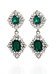 Rhinestone Drop Earrings Hoop Earrings Earrings Set Jewelry Women Wedding Party Casual Rhinestone 1 pair Jade