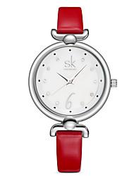 Damen Kleideruhr Modeuhr Quartz / PU Band Bequem Elegante Rot Orange Grün Rosa Marke SK