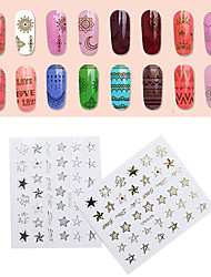 10PCS 3D Bring Back Glue  Ultra-Thin Japanese Eentiment National Wind The Geometric Line Nail Stick