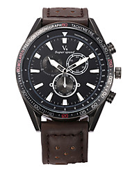 V6 Large Dial Fake Three Eye Quartz Watch