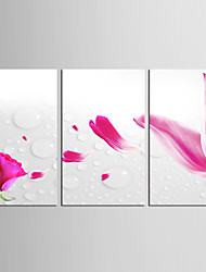 Canvas Set Abstract Floral/Botanical Classic Pastoral,Three Panels Canvas Vertical Print Wall Decor For Home Decoration