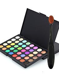 40 Paleta de Sombras de Ojos Seco Paleta de sombra de ojos Polvo Condensado Normal Maquillaje de Diario