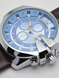 Men's Sport Watch Fashion Watch Wrist watch Quartz Calendar Genuine Leather Band Vintage Casual Luxury Multi-Colored