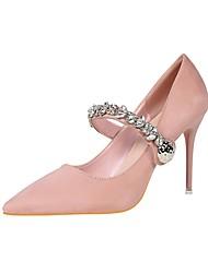 Women's Stiletto Heels/Comfort/Sweet/Grace Dress/Casual/Rhinestone /Black/Green/Pink/Gray/Khaki