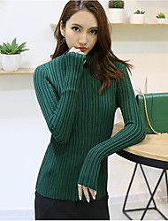Women's Casual Cotton Knitwear O Neck Slim Knitted Sweater Pullover