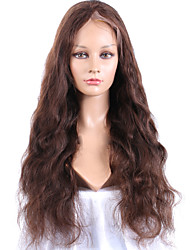 Fashion Long Natural Wave #4 Virgin Lace Front Wig Glueless High 150% density Natural Hairline Human Hair Women Wigs