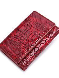 Contacts Women Fashion Patent Leather Trifold Short Wallet Casual Event/Party Office & Career-Wallet