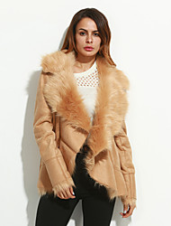 Fashion Sexy Women Faux Fur Outerwear Imitation Wool Leather grass Coat Faux Fur Tops