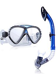 Sets de Masque et tuba Guichet unique Adulte Fibre de verre Etanche Plongée & Masque et tuba Bleu