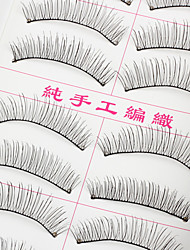 20Pairs New Natural Long Thick Black False Eyelash Eyelashes Extensions Handmade Individual Lashes Makeup Eyelashes
