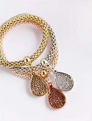 Femme Bracelets en cuir Bracelets Cuir Acrylique Imitation de diamant Amitié Hip-Hop Goutte Or Rose Bijoux 1pc