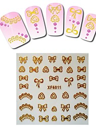 1sheet  Gold Nail Stickers XF6011