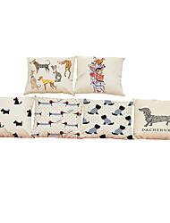 Set of 6 dachshund pattern Linen Pillowcase Sofa Home Decor Cushion Cover