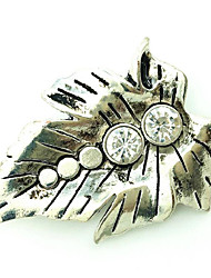 White Alloy Diamond Brooch