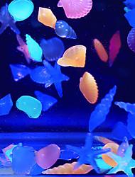 Aquário Decoração Mármore Noctilucente Plástico Cores Aleatórias