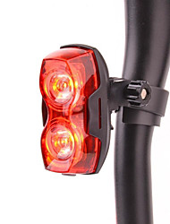 3-Mode 2-LED Red Light Bike Bicycle LED Burst Flashing Rear Light (2 x AAA)
