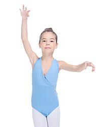 Ballet Leotards Women's Children's Training Cotton Lycra Buttons 1 Piece Sleeveless Leotard