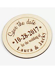 Personnalisé Carte plate Invitations de mariage Cartes Rappel d'Invitation de Mariage-1 Piece/SetStyle artistique Le style rétro Style