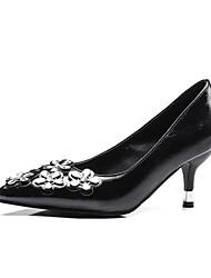Damen-High Heels-Büro Kleid Party & Festivität-PU-Kitten Heel-Absatz-Komfort Club-Schuhe-Schwarz Rosa
