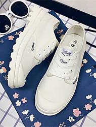 Japanese autumn white canvas shoes lace shoes flat shoes with flat shoes casual shoes white shoes student
