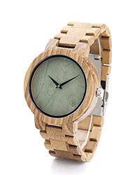 Жен. Модные часы Часы Дерево Кварцевый / Дерево Группа Повседневная Хаки